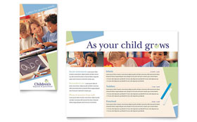 Child Care & Preschool - Apple iWork Pages Brochure
