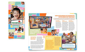 Preschool Kids & Day Care - Apple iWork Pages Brochure Template