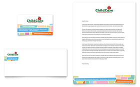Preschool Kids & Day Care - Business Card & Letterhead Template