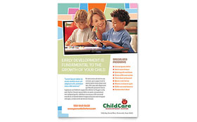 Preschool Kids & Day Care - Flyer