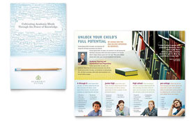 Academic Tutor & School - Microsoft Word Brochure