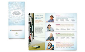 Academic Tutor & School - Microsoft Word Tri Fold Brochure Template