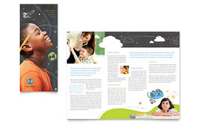 Education Foundation & School - Adobe Illustrator Tri Fold Brochure Template