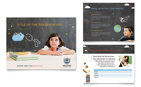 Education Foundation & School - PowerPoint Presentation Template