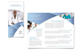 Nursing School Hospital - Business Marketing Tri Fold Brochure Template