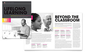 Adult Education & Business School - QuarkXPress Brochure