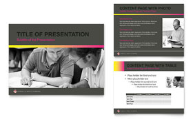 Adult Education & Business School - PowerPoint Presentation Template