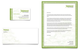Japanese Restaurant - Business Card & Letterhead Template