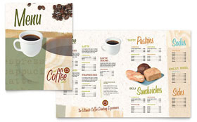 Coffee Shop - Apple iWork Pages Menu Template