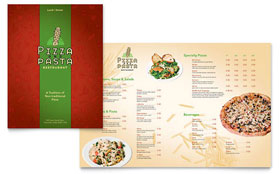 Italian Pasta Restaurant - Graphic Design Menu Template