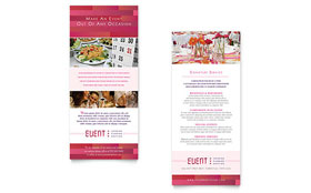 Corporate Event Planner & Caterer - Rack Card Template