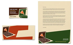 Pizza Pizzeria Restaurant - Business Card & Letterhead