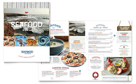 Seafood Restaurant - Desktop Publishing Menu Template