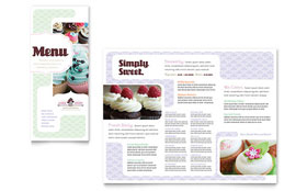 Bakery & Cupcake Shop - Microsoft Word Menu