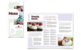 Bakery & Cupcake Shop - Menu Template