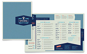 Fine Dining Restaurant - Microsoft Word Menu Template