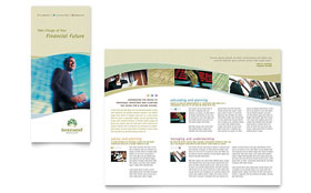 Investment Management - Adobe InDesign Tri Fold Brochure Template