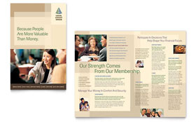 Credit Union & Bank - Microsoft Word Brochure Template