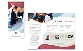 Tax Accounting Services - Tri Fold Brochure Template