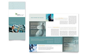 Wealth Management Services - Graphic Design Tri Fold Brochure