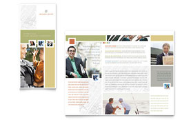 Investment Advisor - Microsoft Word Brochure Template