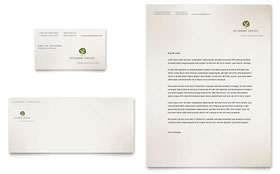 Retirement Investment Services - Business Card & Letterhead Template