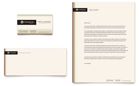 Financial Planner - Business Card & Letterhead