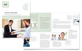 Accounting & Tax Services - Microsoft Word Brochure Template