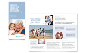 Estate Planning - Adobe Illustrator Tri Fold Brochure Template