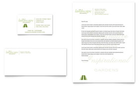 Garden & Landscape Design - Business Card & Letterhead Template