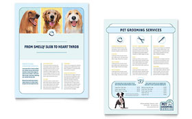 Pet Grooming Service - Sales Sheet Template