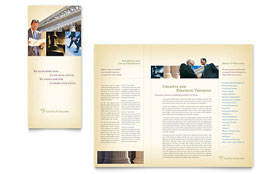 Attorney & Legal Services - Microsoft Word Brochure Template