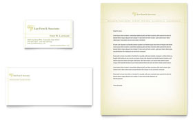 Attorney & Legal Services - Business Card & Letterhead Template