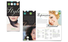 Beauty & Hair Salon - Tri Fold Brochure