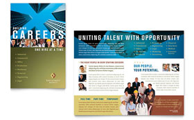 Employment Agency & Jobs Fair - Microsoft Publisher Brochure Template