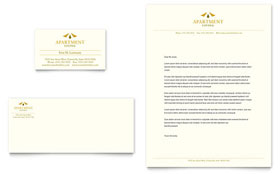 Apartment Living - Business Card & Letterhead