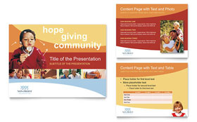 Community Non Profit - PowerPoint Presentation Template