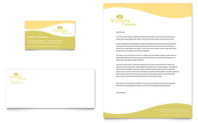 Yoga Instructor & Studio - Business Card & Letterhead