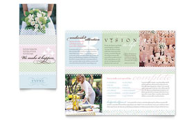 Wedding & Event Planning - Brochure Template