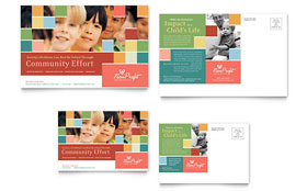 Non Profit Association for Children - Postcard Template