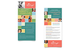 Non Profit Association for Children - Rack Card Template