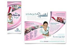 House Cleaning & Maid Services - Graphic Design Brochure Template
