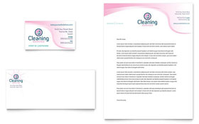 House Cleaning & Maid Services - Business Card & Letterhead