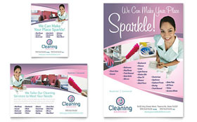 House Cleaning & Maid Services - Flyer & Ad
