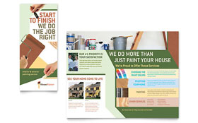 Painter & Painting Contractor - QuarkXPress Brochure Template