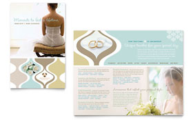 Wedding Store & Supplies - Brochure Template