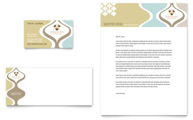 Wedding Store & Supplies - Business Card & Letterhead Template