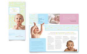 Infant Care & Babysitting - CorelDRAW Brochure Template