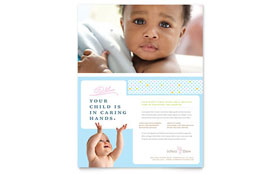 Infant Care & Babysitting - Flyer Template