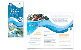 Swimming Pool Cleaning Service - Tri Fold Brochure Template